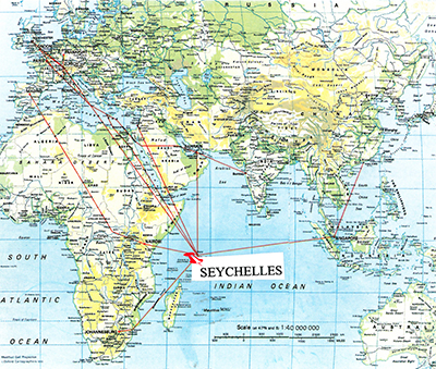 Consulate Of The Republic Of Seychelles In Hong Kong - Map of seychelles world